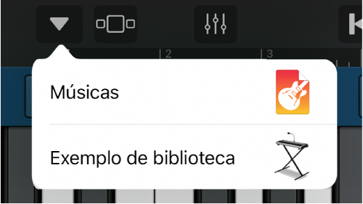"Abra ""Exemplo de biblioteca""."