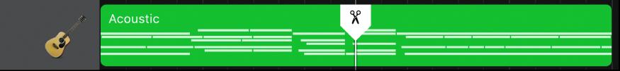 Marcador de divisão representado na região