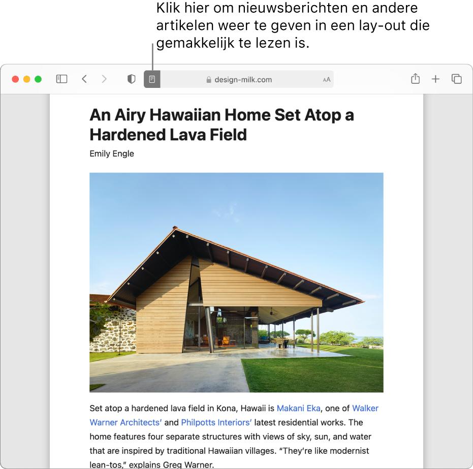 Een artikel in de Reader, zonder advertenties en navigatie.