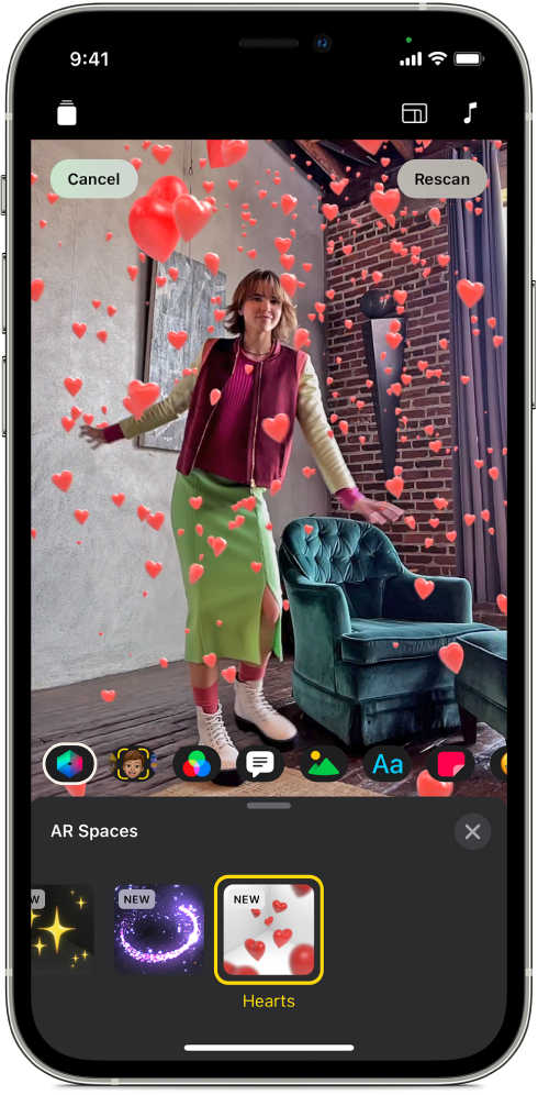 An AR Space in the viewer.