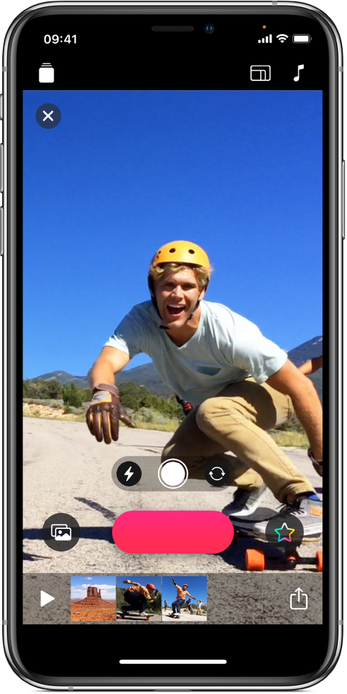 Une image vidéo dans le visualiseur avec le bouton Enregistrer en dessous.