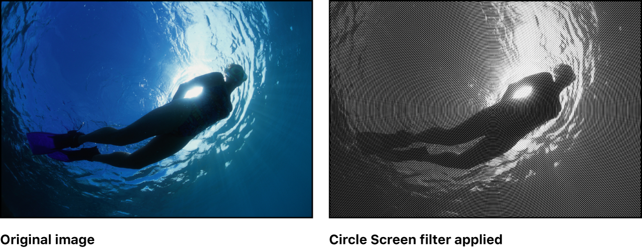 """Canvas mit dem Effekt des Filters """"Konzentrische Kreise"""""""