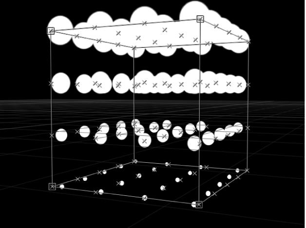 """Canvas mit Replikator, bei dem der Parameter """"Ursprung"""" auf """"Oben"""" eingestellt ist"""