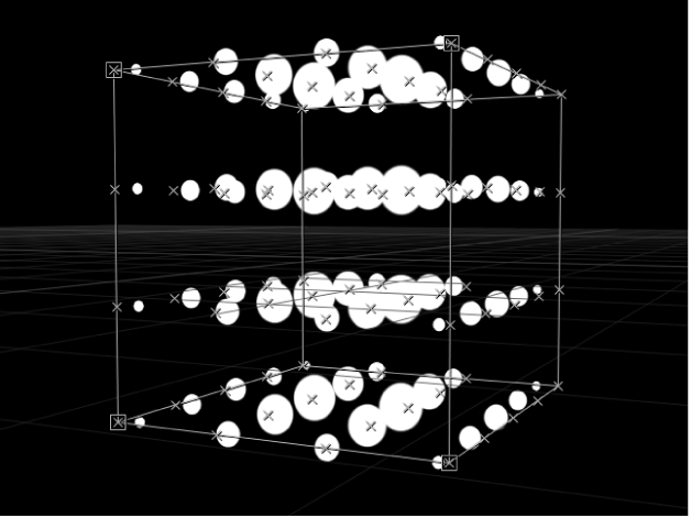 """Canvas mit Replikator, bei dem der Parameter """"Ursprung"""" auf """"Y-Achse"""" eingestellt ist"""