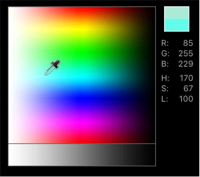 Pop-Up color palette