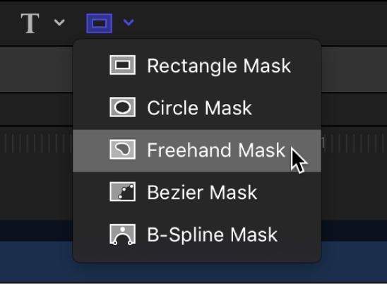 Freehand Mask tool in the canvas toolbar