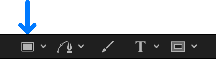 Rectangle tool in the canvas toolbar