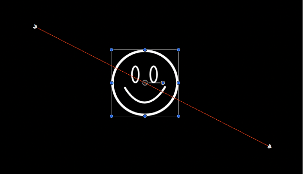 Canvas showing animation path generated by keyframes