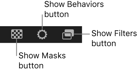 Timeline display option buttons
