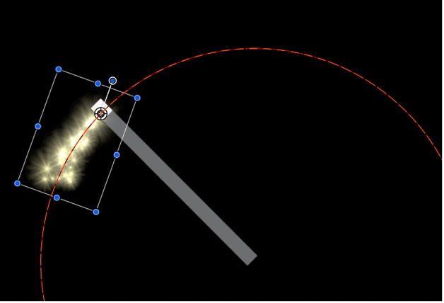 Canvas showing object at its starting point