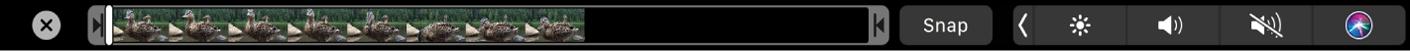 Touch Bar navigation options