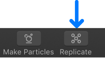 Replicate button in the toolbar