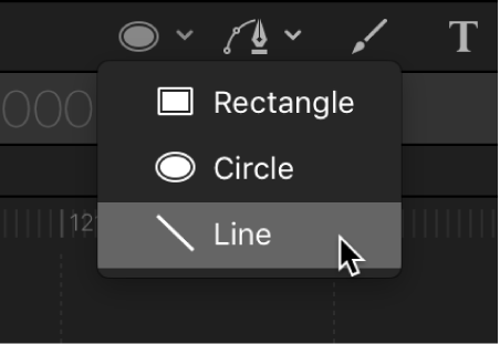 Line tool in the canvas toolbar