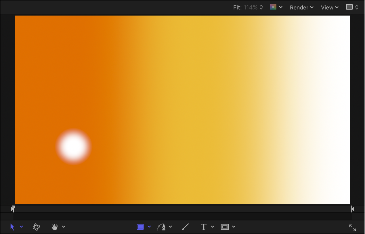 Canvas showing particle system at frame 1