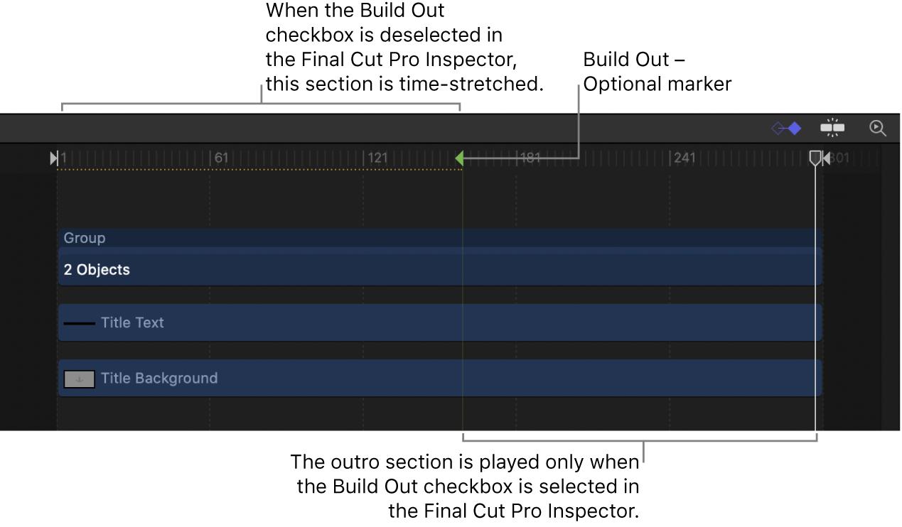 Build Out - Optional marker in Timeline
