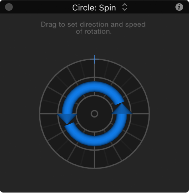 Spin behavior HUD when Axis parameter is set to Z