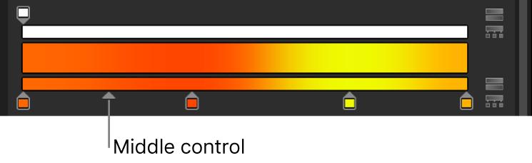 Editor de gradación con el control medio