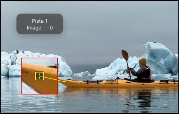 Canevas affichant la présentation cadre agrandie de l'option Rechercher des images vers l'avant