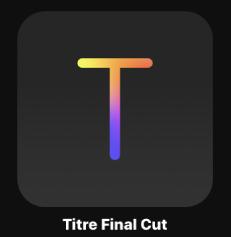 Icône de titre FinalCut dans le navigateur de projets