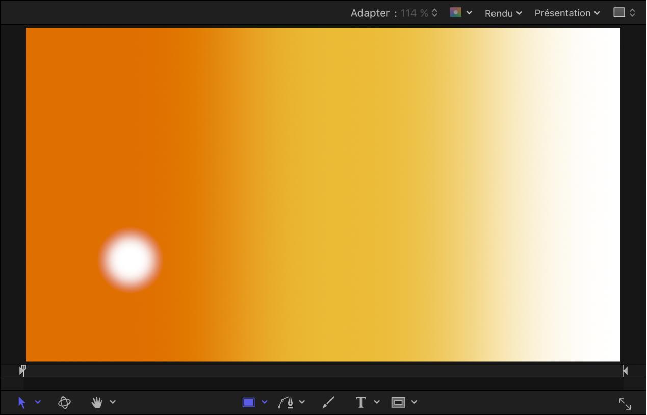 Canevas affichant un système de particules à l'image1