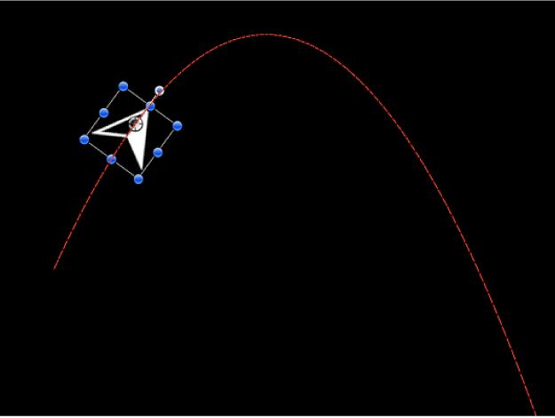Canevas affichant un exemple du comportement Gravité