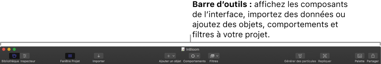 Barre d'outils