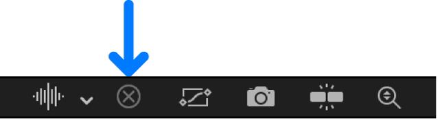 Éditeur d'images clés affichant le bouton «Effacer la liste des courbes»