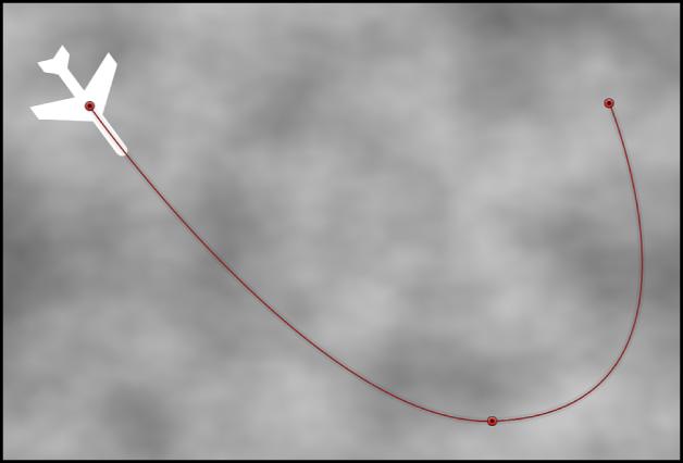 Canevas affichant un comportement Trajectoire d'animation