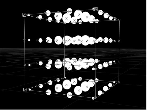 Canevas affichant un réplicateur avec l'option Origine définie sur AxesY