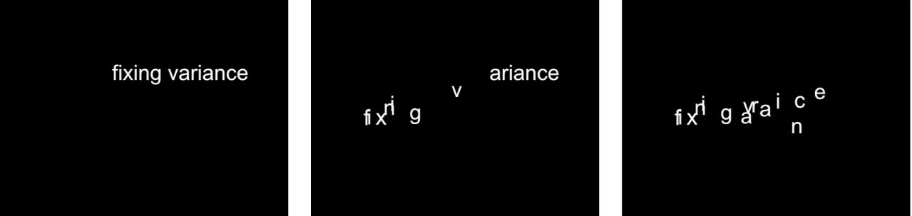 Canevas affichant le comportement Séquence de texte dont le réglage Fixe est défini sur Point de départ