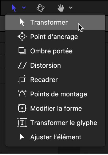Outil Sélectionner/Transformer dans la barre d'outils