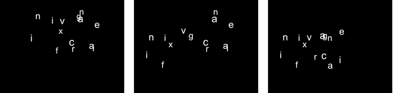 キャンバスに、「解決」が「どちらでもない」に設定された「シーケンステキスト」ビヘイビアが表示されています