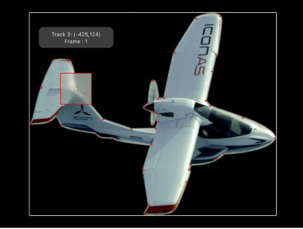 显示在拖移跟踪器时显示的放大插图的画布