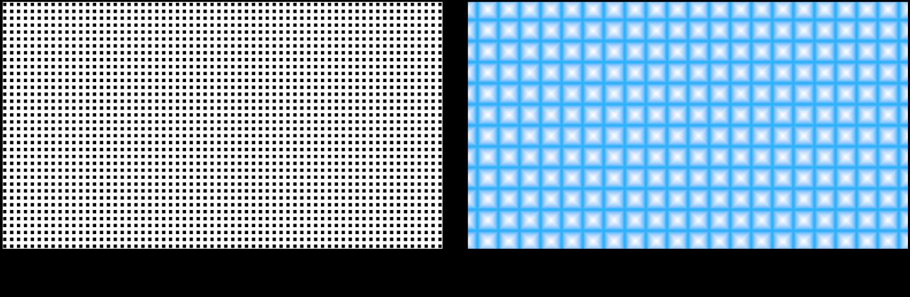 显示带有多种设置的网格发生器的画布