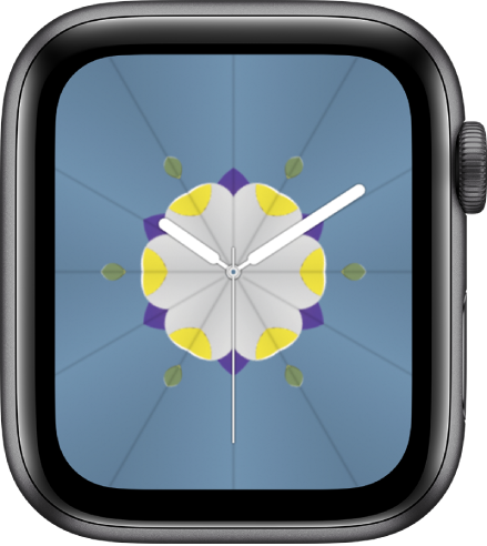 Циферблатът Kaleidoscope (Калейдоскоп), където можете да прибавяте добавки и да настройвате шарката на циферблата.