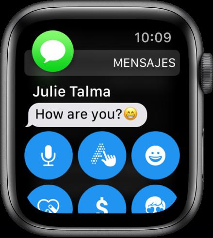 Una notificación de mensaje, con el icono de Mensajes en la parte superior izquierda y el mensaje debajo.