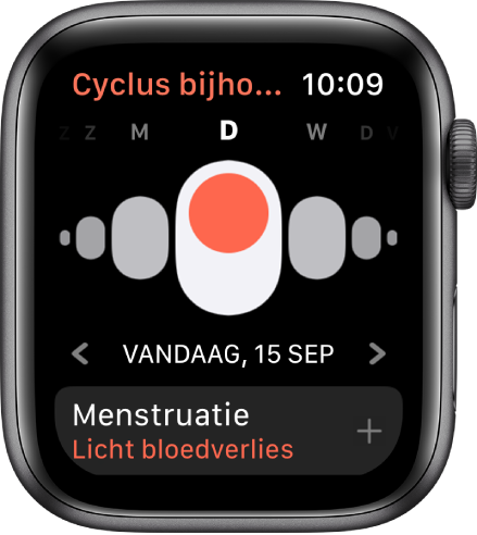 Het scherm 'Cyclus bijhouden'.
