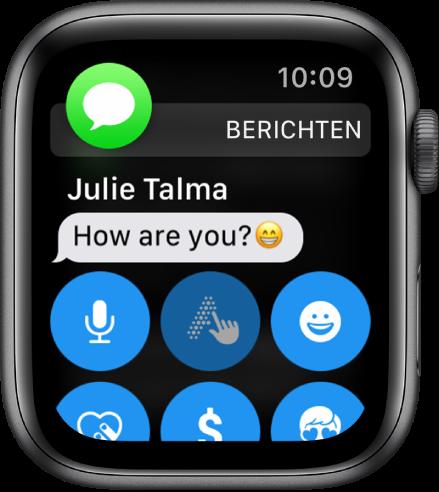 AppleWatch met een bericht.