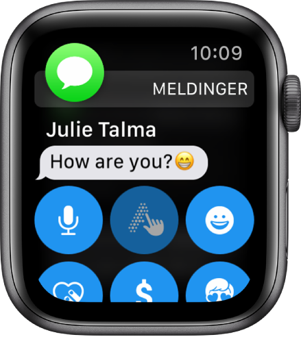 AppleWatch som viser en melding.