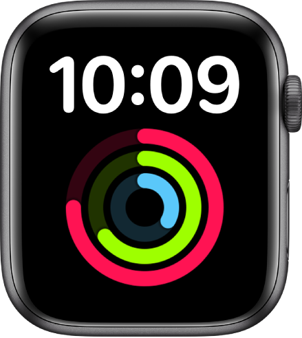 「特大字體」錶面會在上方以數碼格式顯示時間。大型的「健身記錄」複雜功能位於下方。