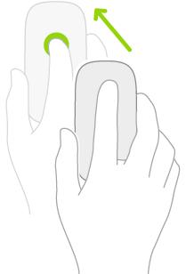 En illustration, der viser, hvordan du bruger en mus til at åbne Notifikationscenter.