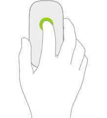 En illustration, der viser et klik på en mus.
