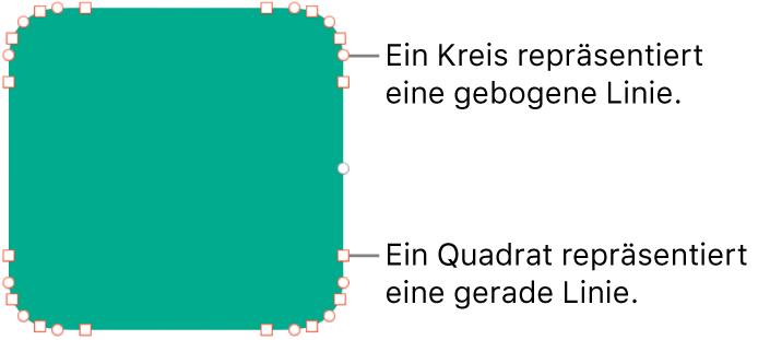 Eine Form mit bearbeitbaren Punkten
