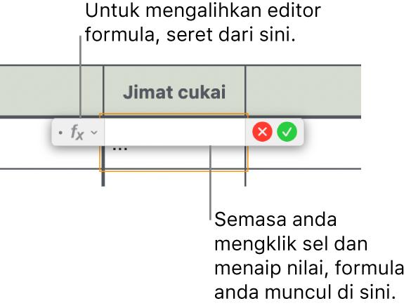 Editor formula.