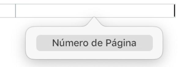 Botão Inserir Número de Página, abaixo do cabeçalho.