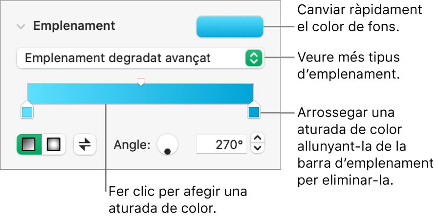 Control per omplir objectes amb colors.