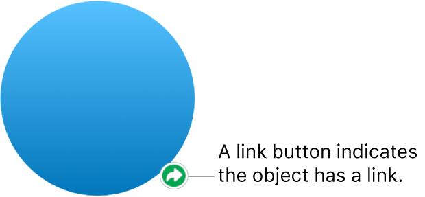 A link button on a shape.