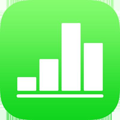 El icono de la app Numbers.
