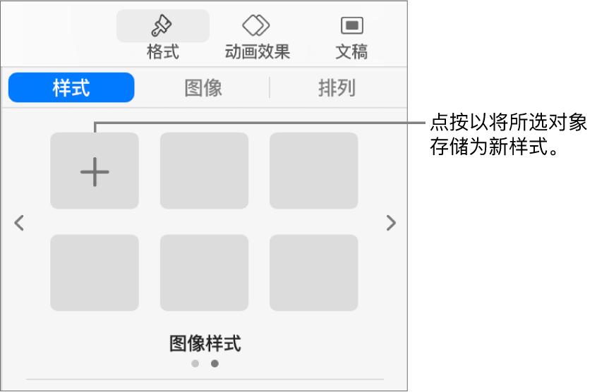 """""""格式""""边栏中的""""样式""""标签,其中有一个文本框样式,右侧有""""创建样式""""按钮和四个空白样式占位符。"""