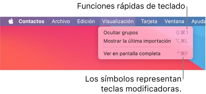 La app Safari con el menú Archivo, mostrando las funciones rápidas de teclado